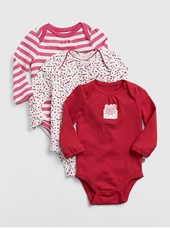 First Favorite Love Bodysuit (3-Pack)