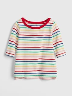 Print Elbow-Length Boxy T-Shirt
