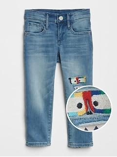 Superdenim Monster Patch Slim Jeans with Fantastiflex