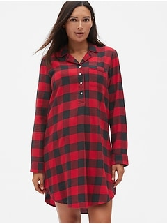 Maternity Flannel Sleep Shirt