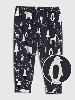 Baby Organic Cotton Print Pull-On Pants