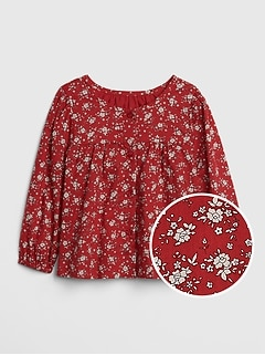 Baby Floral Shirred Top