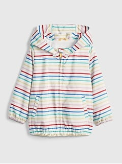 Toddler Print Jersey-Lined Windbuster