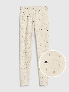 Print Lined Leggings in Fleece