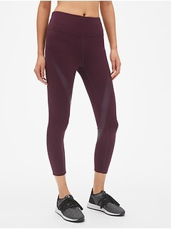 GFast High Rise Shine Spliced 7/8 Leggings in Eclipse