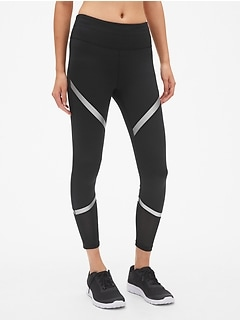 GapFit Blackout Shine Stripe 7/8 Leggings