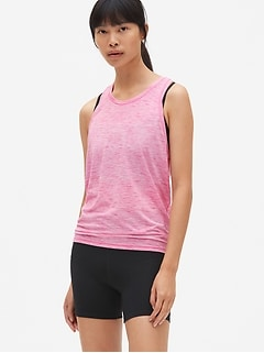 GapFit Breathe Open-Back Tank Top