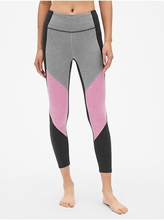 GapFit Colorblock Panel 7/8 Leggings in Performance Cotton