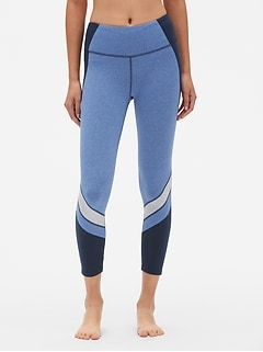 GapFit Colorblock 7/8 Leggings in Performance Cotton