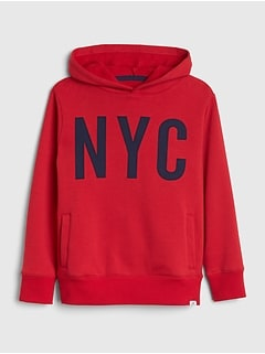 NYC Hoodie Sweatshirt in Fleece