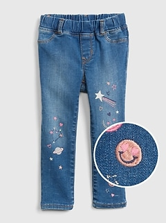 Superdenim Embroidered Space Jeggings with Fantastiflex