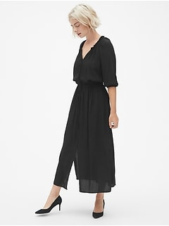 Perfect Tie-Waist Maxi Shirtdress