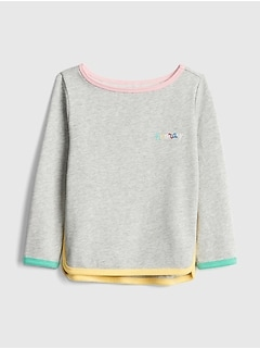 Rainbow-Trim Sweatshirt