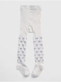 Toddler Glitter Heart Tights