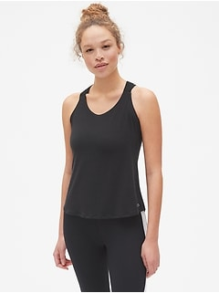 GapFit Breathe Cross-Back Tank Top