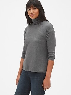 Featherweight Turtleneck Top