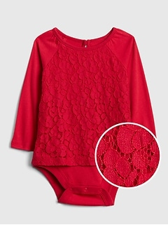 Lace Long Sleeve Body Double