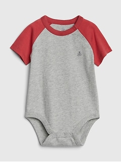 Baby Raglan Short Sleeve Bodysuit