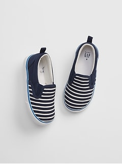 Toddler Stripe Slip-On Sneakers