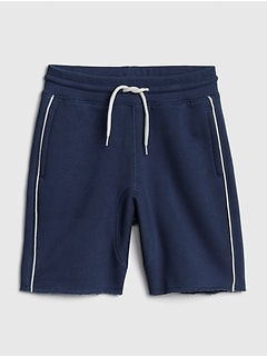 Piping Pull-On Shorts in French Terry