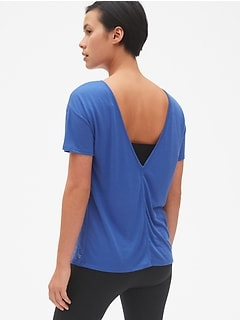 GapFit Breathe V-Back T-Shirt