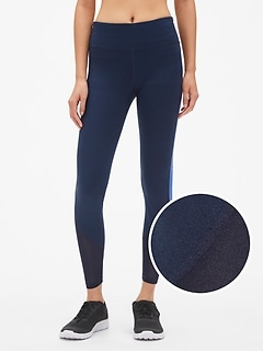 GapFit Blackout Mesh-Insert Full Length Leggings