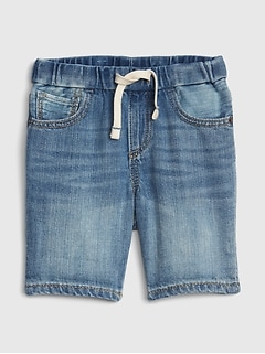 Baby Denim Pull-On Shorts