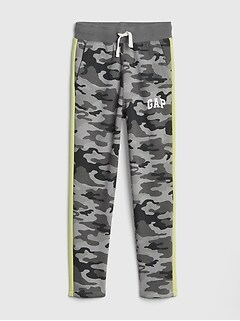 Logo Pull-On Slim Pants in Fleece