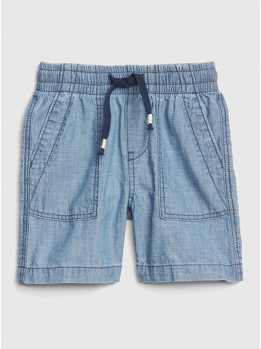 Toddler Pull-On Chambray Utility Shorts