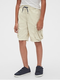 Kids Pull-On Cargo Shorts In Poplin