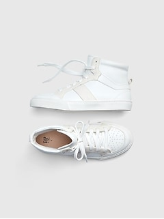 Kids Glitter Hit-Top Sneakers