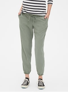 Maternity Drawstring Joggers in TENCEL™