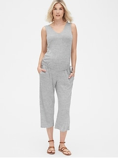 Maternity Softspun Sleeveless Tie-Waist Jumpsuit