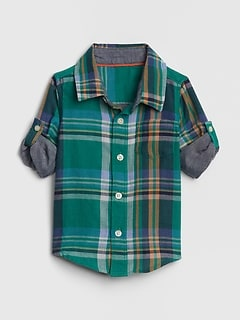 Baby Plaid Convertible Shirt