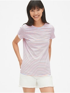 Vintage Stripe Short Sleeve Crewneck T-Shirt