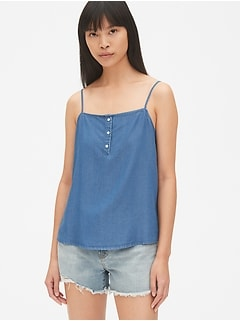 Button-Front Cami in TENCEL™