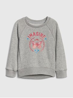 Toddler Graphic Raglan Sweatshirt