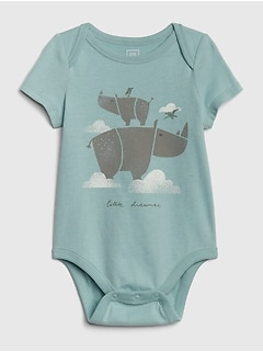 Organic Cotton Graphic Short Sleeve Bodysuit