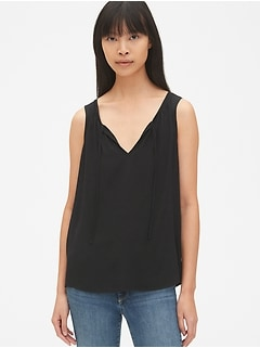 Split-Neck Tank Top