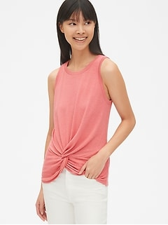 Softspun Twist-Knot Hem Tank Top