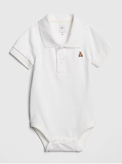 Baby Polo Short Sleeve Bodysuit