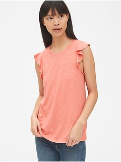 Soft Slub Flutter Tank Top