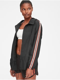 GapFit Hooded Side-Stripe Jacket