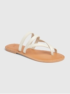 Strappy Toe Slide Sandals