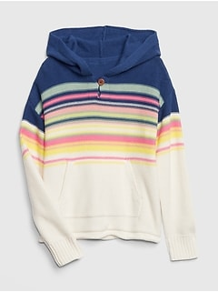 Kids Stripe Garter Hoodie Sweater