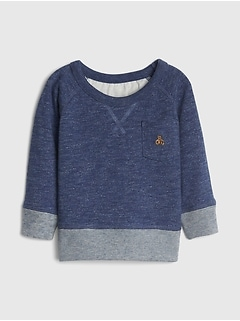 Baby Marled Sweatshirt In Fleece