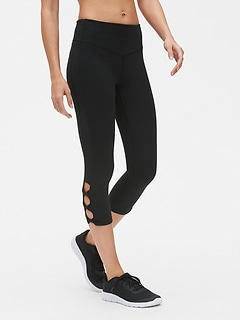 GapFit Blackout High Rise Twist-Detail Capris