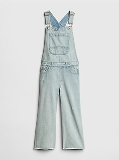 Kids Superdenim Crop Overalls