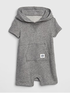 Hoodie Shorty One-Piece in Fleece