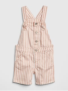 Stripe Denim Shortalls